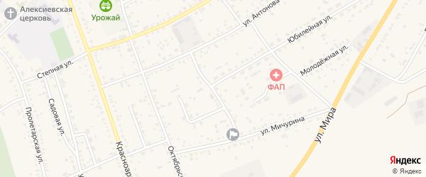 Ветеринарный переулок на карте села Ключи с номерами домов