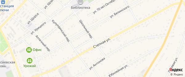 Восточная улица на карте села Ключи с номерами домов