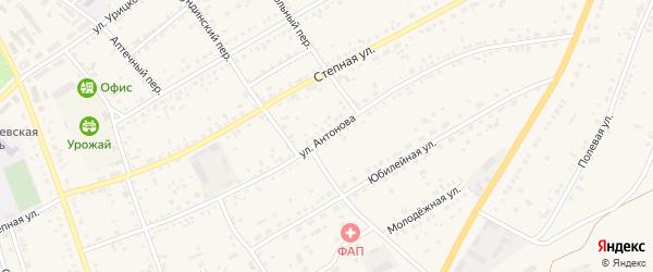 Улица Антонова на карте села Ключи с номерами домов