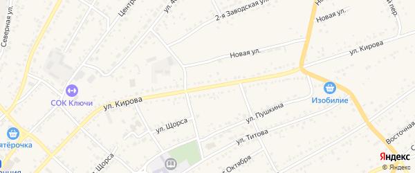 Улица Кирова на карте села Ключи с номерами домов