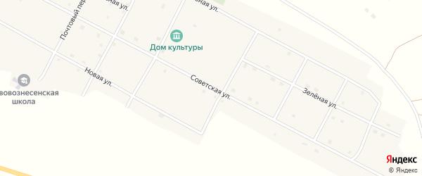Советская улица на карте села Нововознесенки с номерами домов