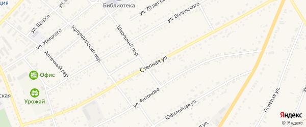 Степная улица на карте села Ключи с номерами домов