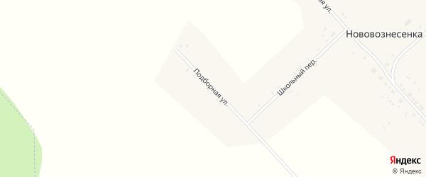 Подборная улица на карте села Нововознесенки с номерами домов