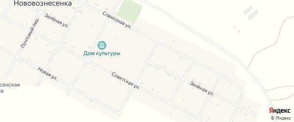 Зеленая улица на карте села Нововознесенки с номерами домов