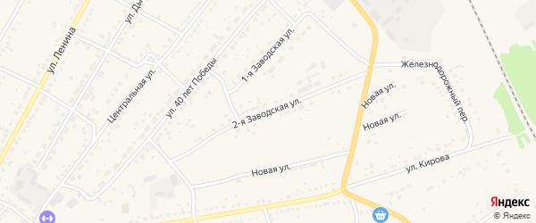 2-я Заводская улица на карте села Ключи с номерами домов