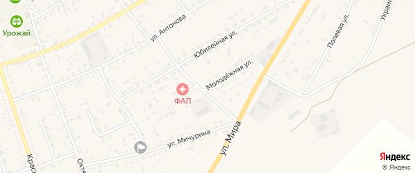 Молодежная улица на карте села Ключи с номерами домов