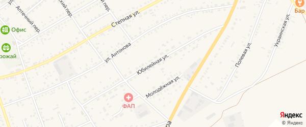 Юбилейная улица на карте села Ключи с номерами домов