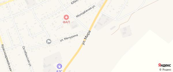 Улица Мира на карте села Ключи с номерами домов