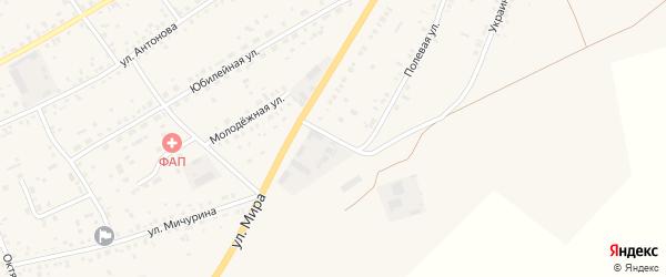 Полевая улица на карте села Ключи с номерами домов