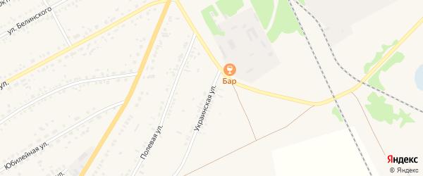 Украинская улица на карте села Ключи с номерами домов