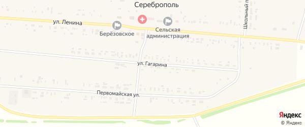 Улица Гагарина на карте села Сереброполя с номерами домов