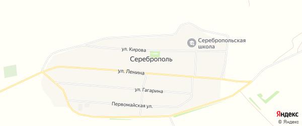 Карта села Сереброполя в Алтайском крае с улицами и номерами домов