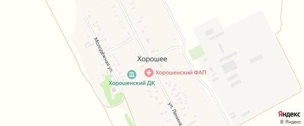 Школьная улица на карте поселка Хорошего с номерами домов