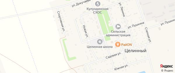 Новая улица на карте Целинного поселка с номерами домов