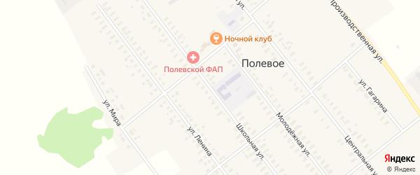 Школьная улица на карте Полевого села с номерами домов