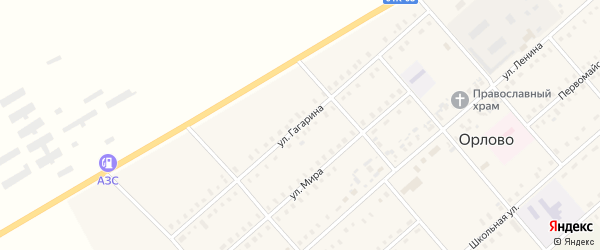 Улица Гагарина на карте села Орлово с номерами домов