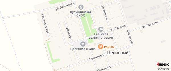 Октябрьская улица на карте Целинного поселка с номерами домов
