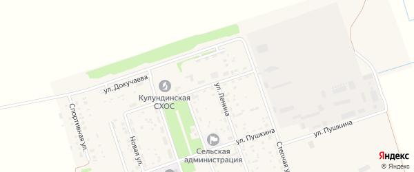 Улица Мичурина на карте Целинного поселка с номерами домов