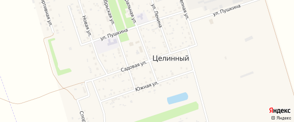 Садовая улица на карте Целинного поселка с номерами домов
