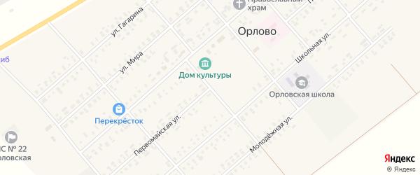 Первомайская улица на карте села Орлово с номерами домов