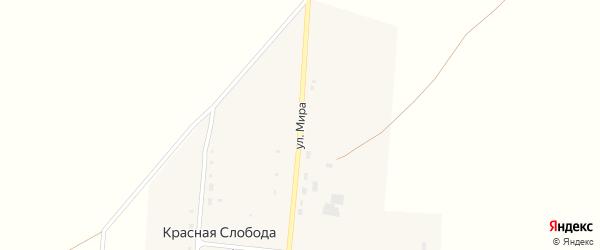 Улица Мира на карте села Красной Слободы с номерами домов