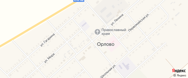 Улица Ленина на карте села Орлово с номерами домов