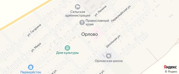 Молодежная улица на карте села Орлово с номерами домов