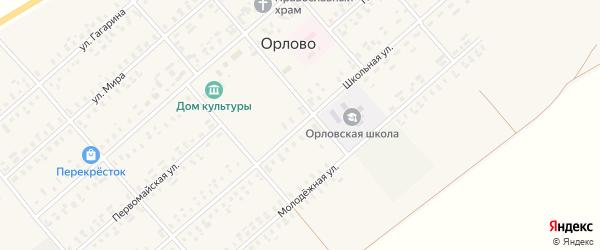 Школьная улица на карте села Орлово с номерами домов
