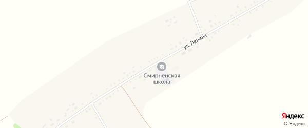 Зеленая улица на карте Смирненького села с номерами домов