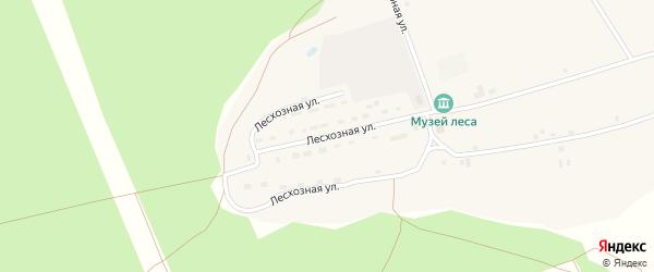 Лесхозная улица на карте села Северки с номерами домов