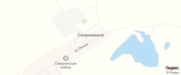 Карта Смирненького села в Алтайском крае с улицами и номерами домов