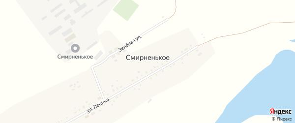 Улица Чапаева на карте Смирненького села с номерами домов