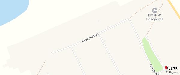 Северная улица на карте села Северки с номерами домов
