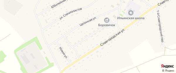 Молодежная улица на карте села Новоильинки с номерами домов