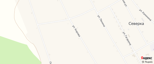 Улица Кирова на карте села Северки с номерами домов