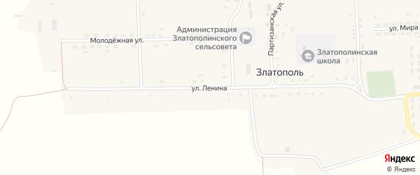 Улица Ленина на карте села Златополя с номерами домов