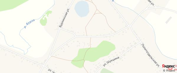 Бурлинская улица на карте села Новоильинки с номерами домов