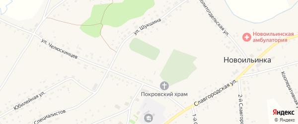 Новая улица на карте села Новоильинки с номерами домов