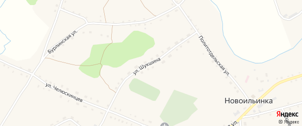 Улица Шукшина на карте села Новоильинки с номерами домов