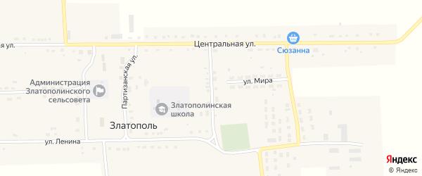 Восточный переулок на карте села Златополя с номерами домов