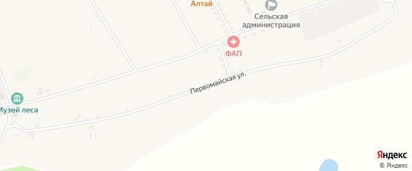 Первомайская улица на карте села Северки с номерами домов