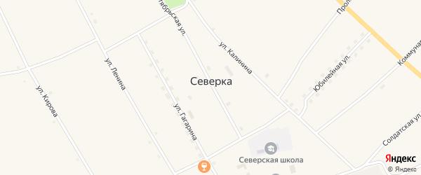 Октябрьская улица на карте села Северки с номерами домов