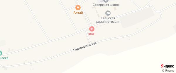 Переулок Строителей на карте села Северки с номерами домов