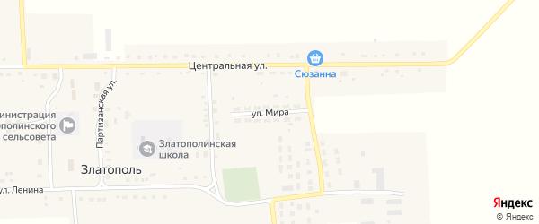 Улица Мира на карте села Златополя с номерами домов