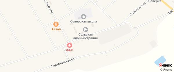 Молодежная улица на карте села Северки с номерами домов