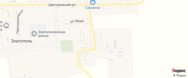 Целинная улица на карте села Златополя с номерами домов