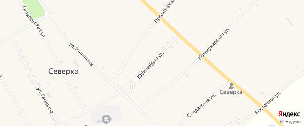 Юбилейная улица на карте села Северки с номерами домов