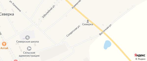 Солдатская улица на карте села Северки с номерами домов