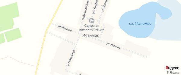 Карта села Истимиса в Алтайском крае с улицами и номерами домов