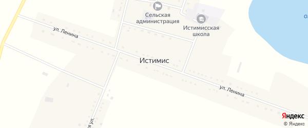 Советская улица на карте села Истимиса с номерами домов